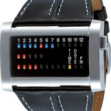 Ibiza Ride Horizontal Stainless Steel Binary LED watch