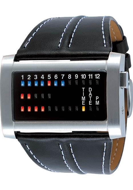 Ibiza Ride Horizontal Stainless Steel Binary LED watch