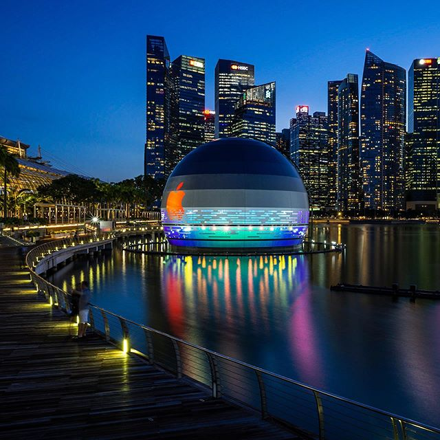 Photo of Apple's floating sore in Singapore